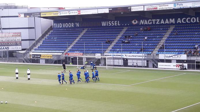 Stadion De Vliert waar het bestuur van FC Den Bosch zo'n 550 M-sidesupporters wil laten verhuizen.