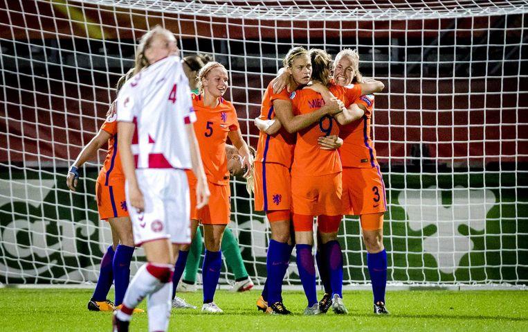 Denemarken treurt, Nederland juicht. Beeld anp