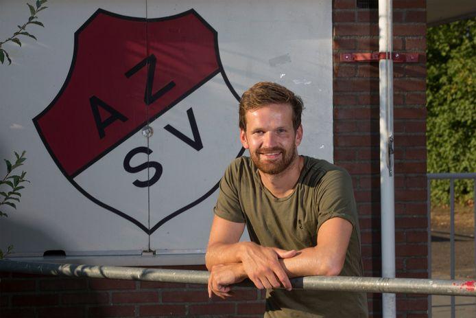Erwin Nieuwboer scoorde de 0-1 voor AZSV tegen Rigtersbleek.