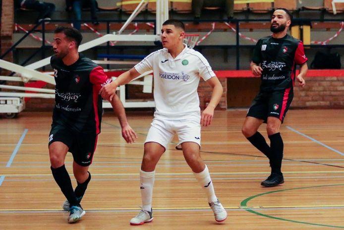 Nabil Azzanagui (midden) is één van de spelers die Groene Ster Vlissingen verruilt voor Feyenoord Futsal.