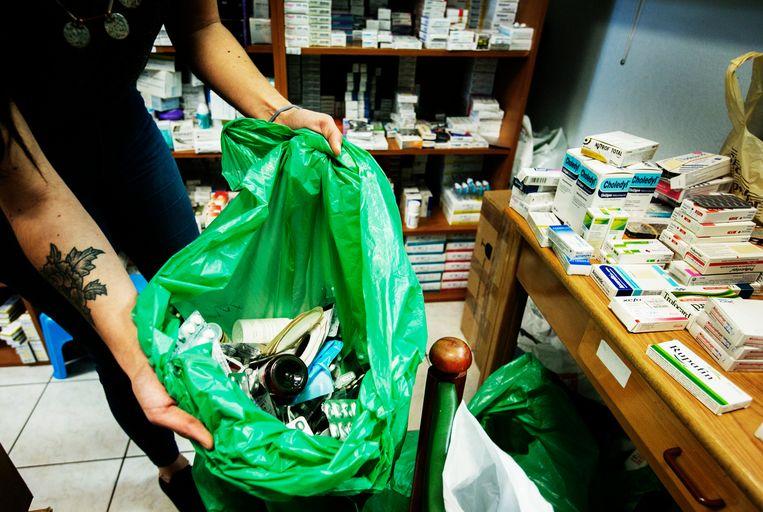 België vernietigt elk jaar 500 ton teruggebrachte medicijnen.  Beeld Tim Dirven