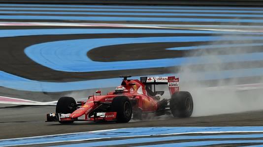 Kimi Räikkönen test in 2016 op het circuit van Paul Ricard