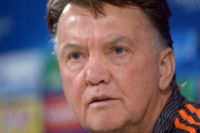 Louis van Gaal op archiefbeeld als coach van Manchester United.