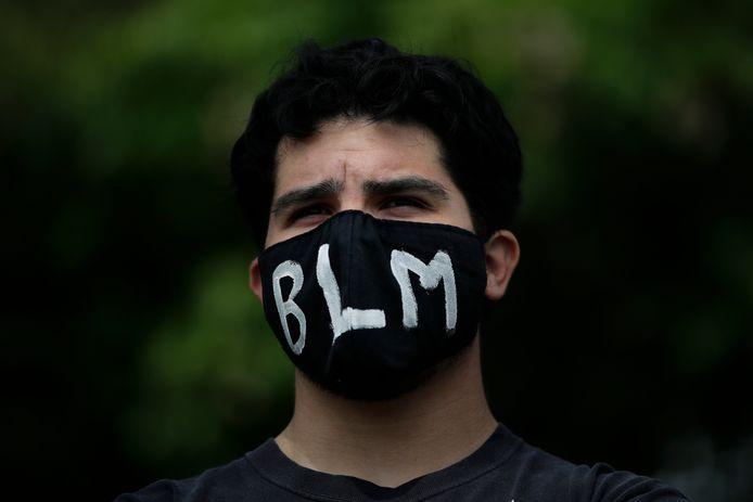 Beeld ter illustratie: Een demonstrant van Black Lives Matter