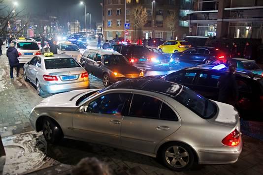 Begin dit jaar protesteerden taxichauffeurs in Breda. Ze vonden dat de  gemeente niets deed tegen snorders.