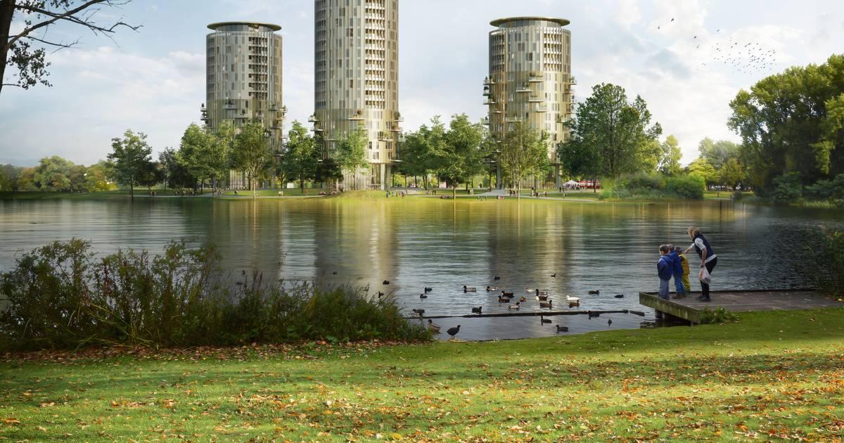Woningbouw locatie Brabantbad flink aangepast: Toren van 60 meter en twee andere zijn lager - BD.nl