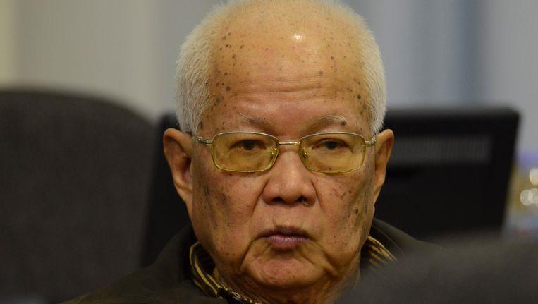 De voormalige leider van de Rode Khmer, Khieu Samphan. Beeld Reuters