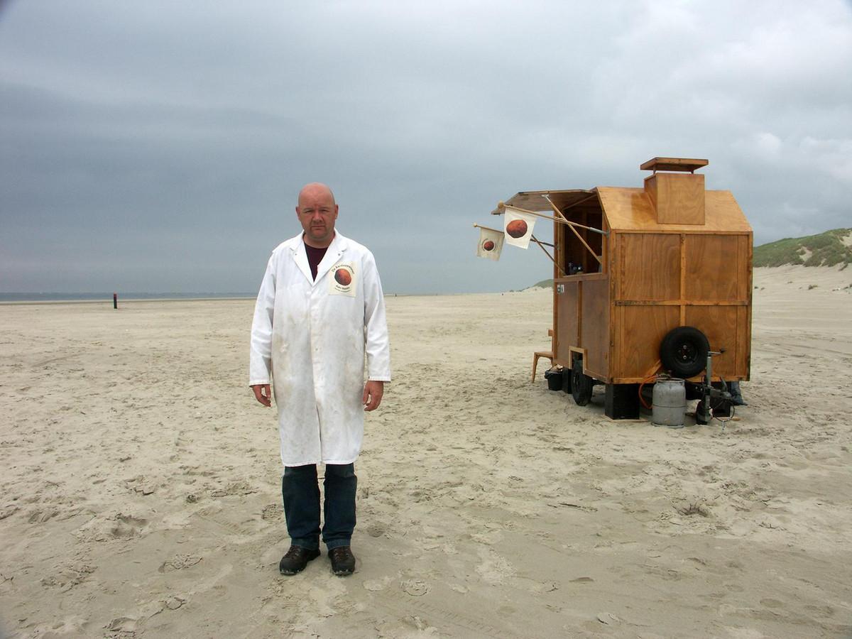 Arjen Boerstra met zijn kraam.