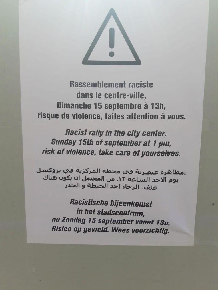 Affiche ingang ondergrondse parking.