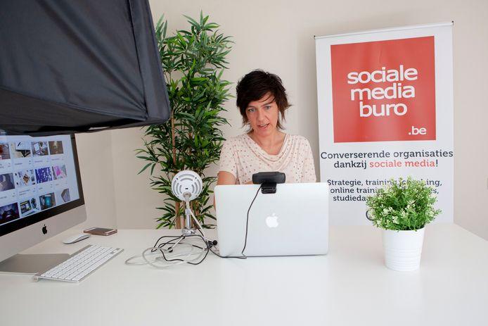 Nadja Desmet van het socialemediaburo.