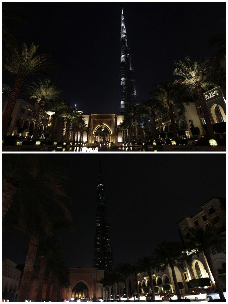 Burj Khalifa, het hoogste gebouw ter wereld in de stad Dubai in de Verenigde Arabische Emiraten. Beeld reuters
