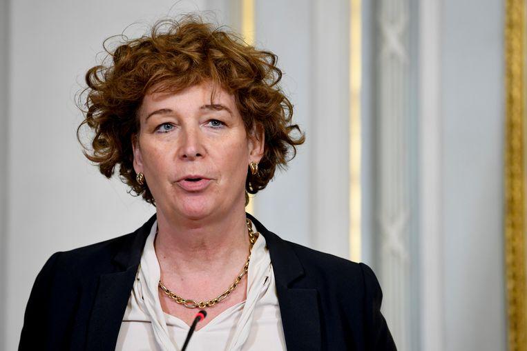 Minister van Ambtenarenzaken Petra De Sutter (Groen). Beeld BELGA
