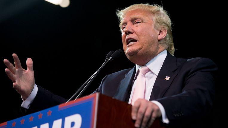 Trump wordt ervan beschuldigd een hogeschool te hebben opgericht die studenten geld afhandig maakte. Beeld AP