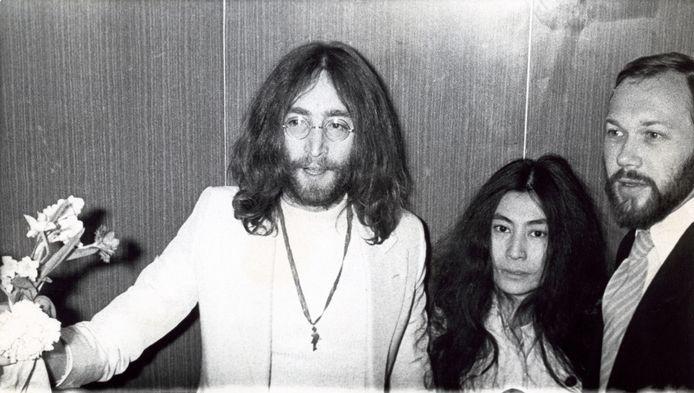 John Lennon et Yoko Ono à la fin des années 60.