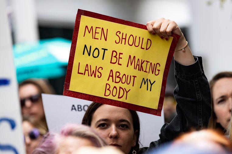 Protest tegen de abortuswet in Washington. Beeld EPA