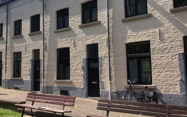 De woning aan de Pioengang in Leuven.