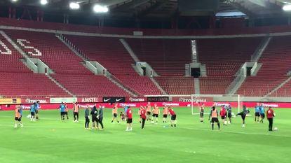 Rode Duivels trainen laatste keer in Griekse arena (mét beelden!)