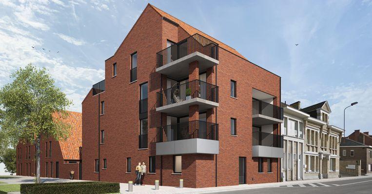 Een conceptbeeld van de nieuwe residentie Geuze-St.Louis