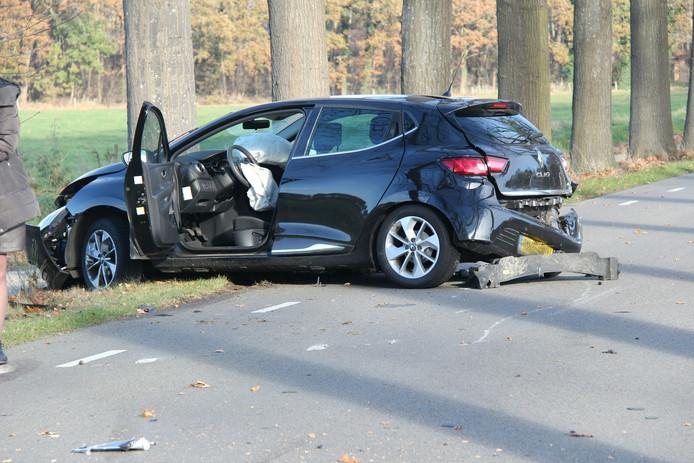 De situatie na het ongeval.