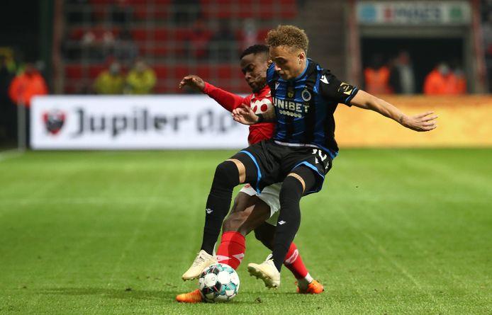 Noa Lang maakte zijn debuut voor Club Brugge.