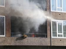 Uitslaande brand verwoest flatwoningen Nijkerk