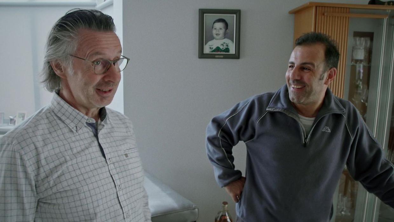 Martin Heylen en Pietro. Beeld VRT