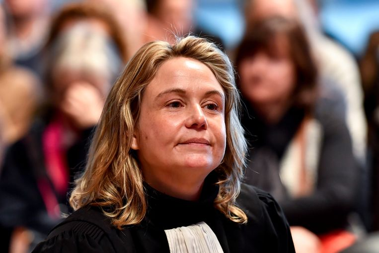 Lawyer Jela Jochems representing the civil parties pictured during the jury composition for the assize trial of Natasja De Paepe and Bart Goossens before the Assize Court of Antwerp province, in Antwerp, Tuesday 26 November 2019. De Paepe and Goossens are accused of the murder on Frank Serruys. BELGA PHOTO DIRK WAEM