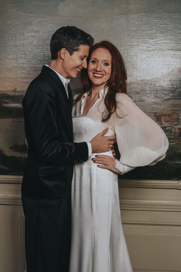 Het huwelijk van Fleur Pierets en Julian P. Boom in Amsterdam. Beeld Femke van Hettema