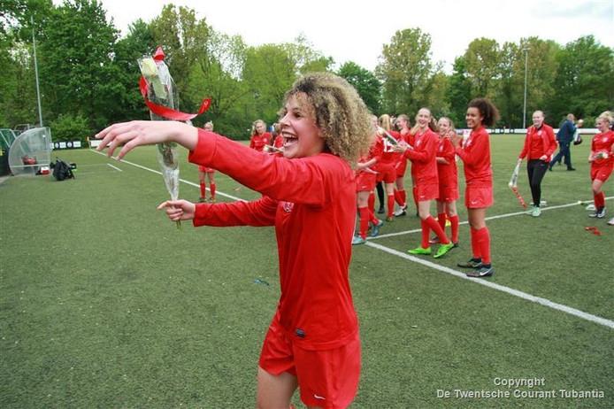 Zoï van de Ven pakte vorig seizoen nog het kampioenschap in de hoofdklasse met het inmiddels opgeheven Jong FC Twente Vrouwen