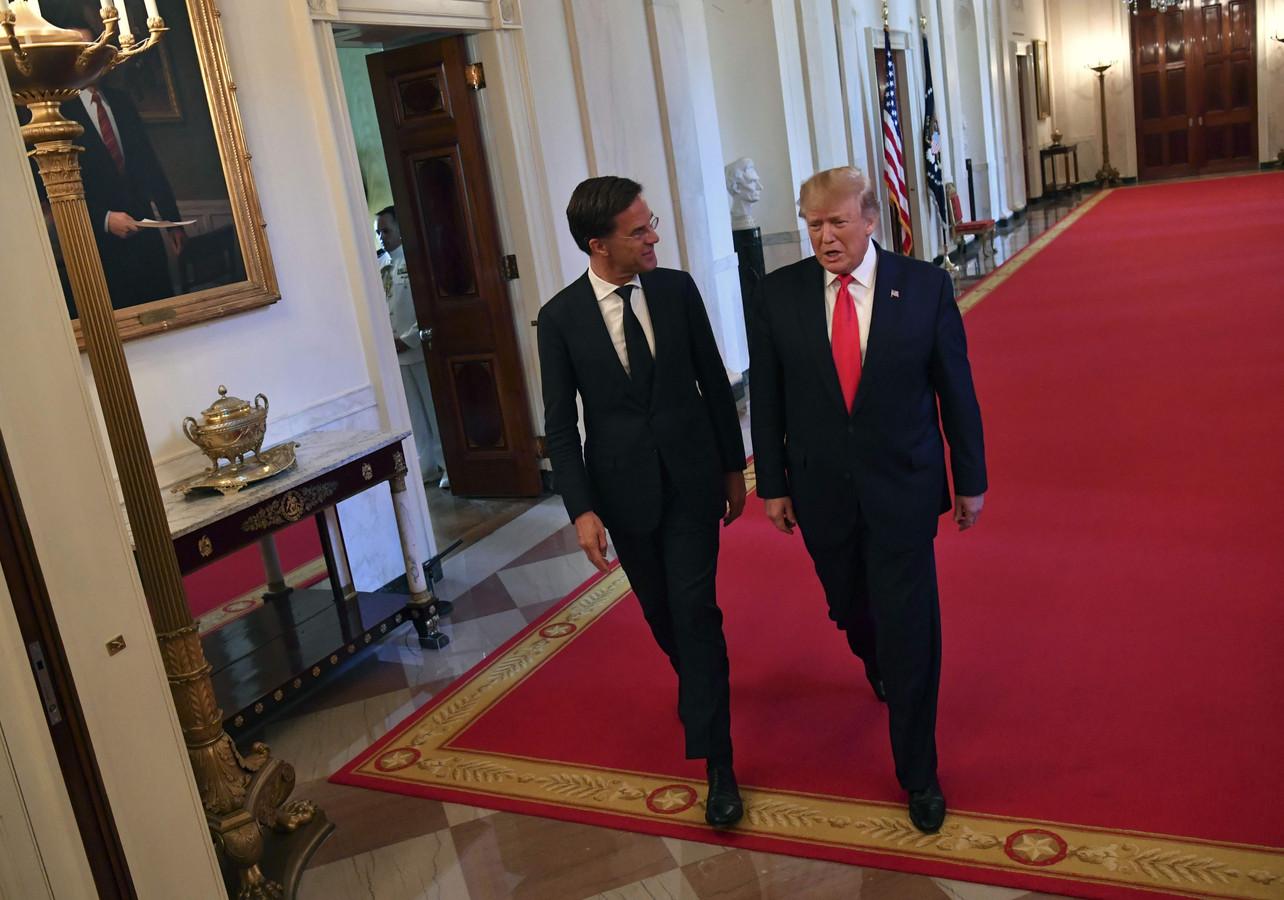 President Donald Trump met minister-president Mark Rutte.