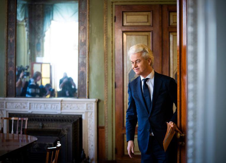 PVV-leider Geert Wilders raakte in opspraak nadat hij journalisten 'tuig van de richel' had genoemd.  Beeld Freek van den Bergh / de Volkskrant