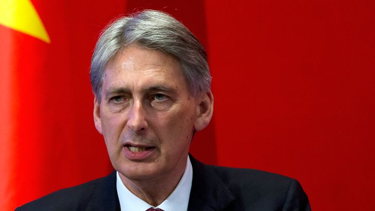 De Britse minister van Buitenlandse Zaken Philip Hammond. Beeld AP