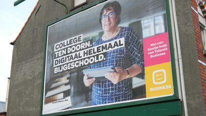 """Schooldirecteur op reclamebord: """"Ik schrok zelf"""""""