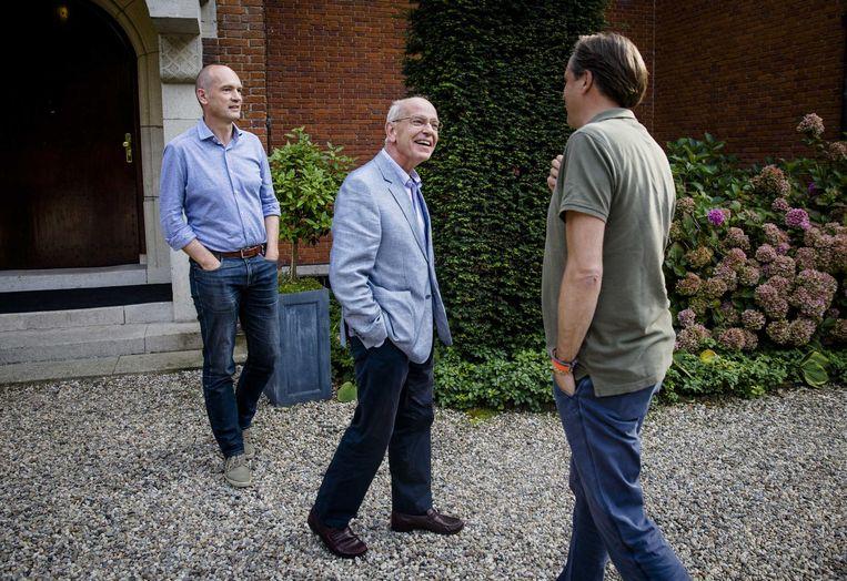 Onderhandelaars Segers, Zalm en Pechtold Beeld anp