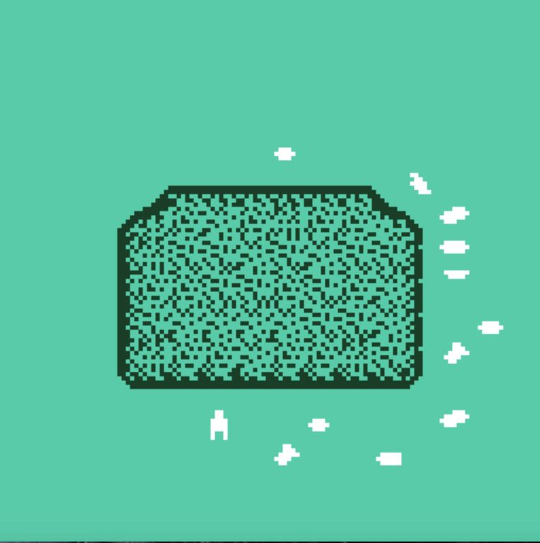 Een naamloze opruimgame van de Amerikaanse gamedesigner Laura Michet. Beeld Meditations