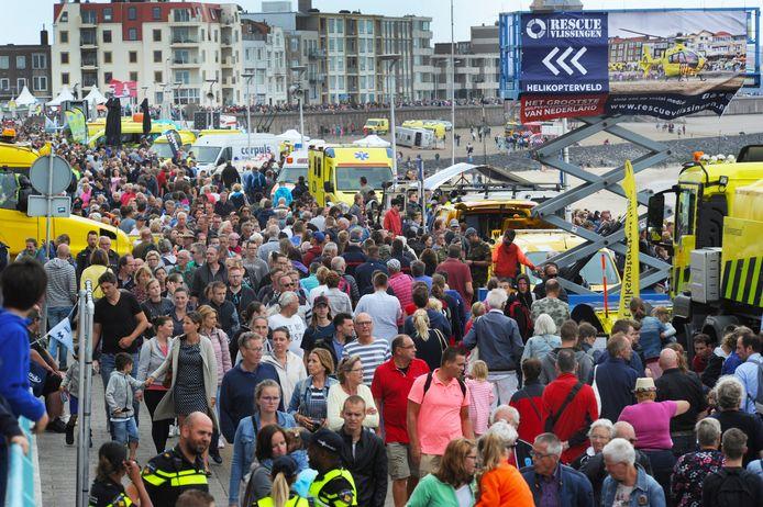 ln 2018 gebruikte Vlissingen voor het eerst wifi-tracking om de drukte tijdens Rescue Vlissingen te meten (foto). Momenteel gebruikt de stad het systeem om met het oog op corona de drukte te meten.