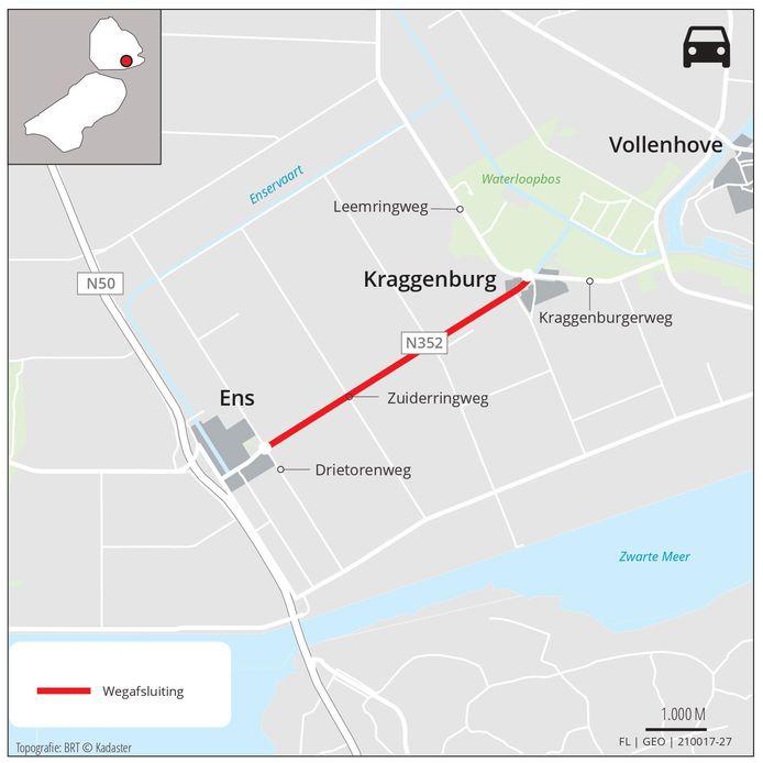 De werkzaamheden aan de Zuiderringweg vinden plaats op het gedeelte tussen  de rotonde met de Kraggenburgerweg en rotonde met de Drietorensweg.