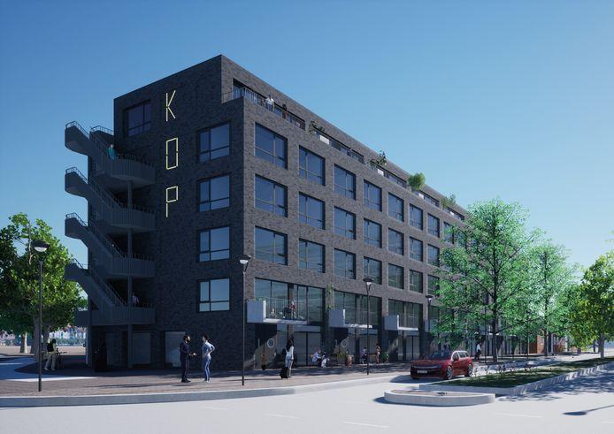 Zo gaat de nieuwbouw op de Kop van het Havenkwartier eruit zien.
