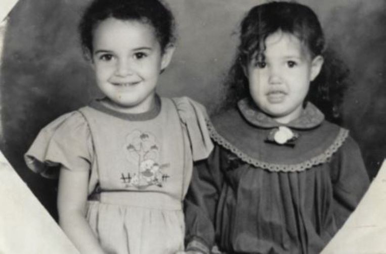 Safia en haar zusje Rahannah.
