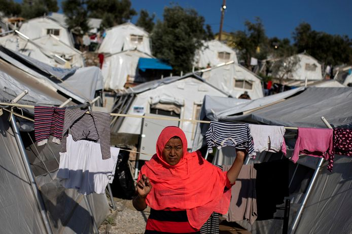 Moria, het grootste migrantenkamp van Europa.