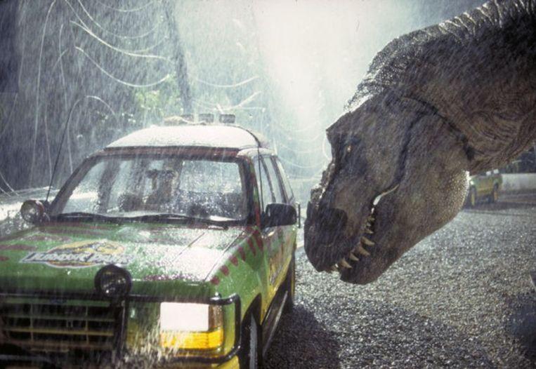 Scene uit Jurassic Park Beeld Getty