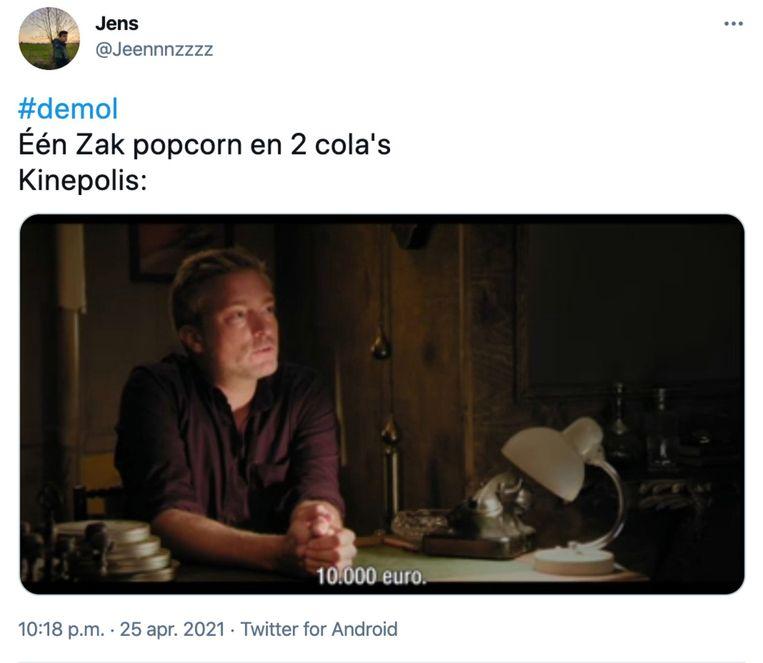 'De Mol' Beeld Twitter