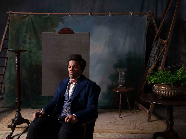 Ray Fearon als hervormer Frederick Douglass (1817-1895): de hoofdpersoon uit filmportret Lessons of the Hour. Beeld Isaac Julien/Galerie Ron Mandos