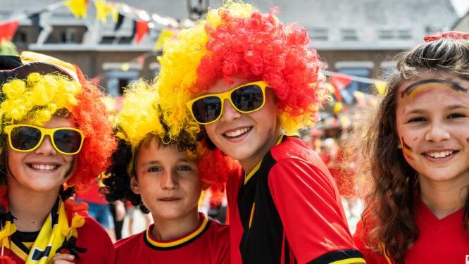 't Eins Feestcomité toont EK-wedstrijden van Rode Duivels op parking Dranken Pede