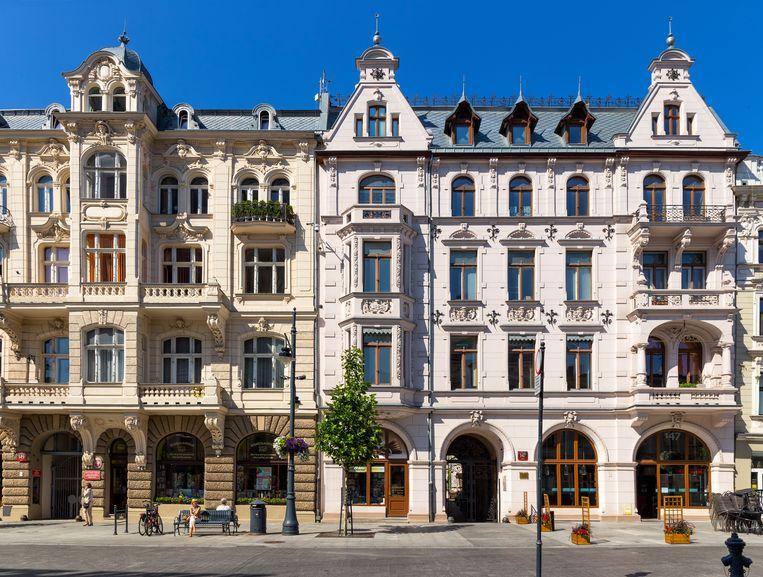 Ulica Piotrkowska, de langste winkelstraat van Europa.  Beeld Getty Images