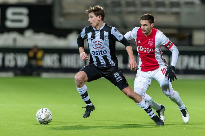 Tim Breukers in actie, tegen  Ajax.