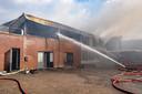 Brand in appartement in Werkendam.