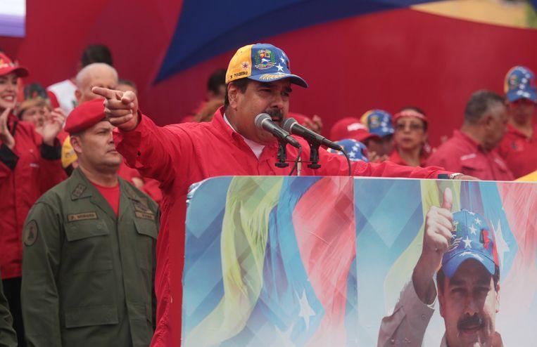 Venezolaans president Nicolas Maduro. Beeld EPA
