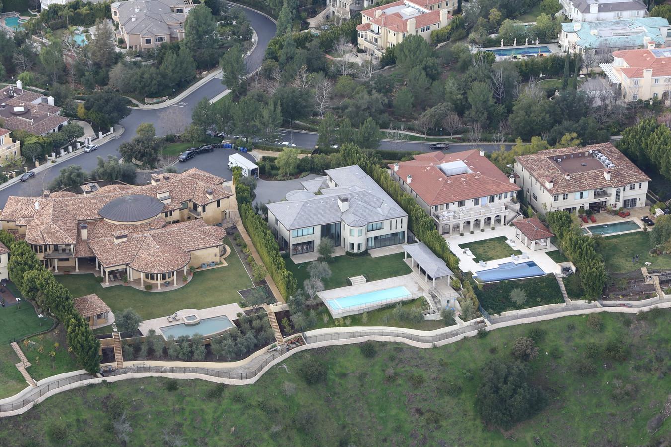 Het huis van 'Kimye' in Calabasas, Los Angeles.