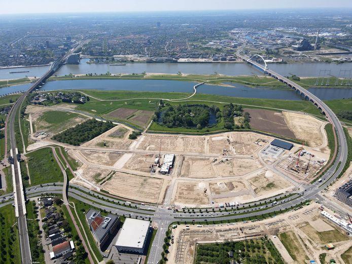 Nieuwbouwterrein in Nijmegen-Noord
